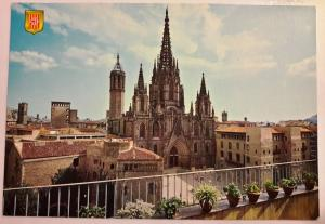 Spain, Barcelona, Cathedral, Colour Postcard