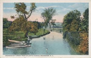 Fishing on Irondequoit Creek from Atlantic Avenue - Rochester, New York - WB