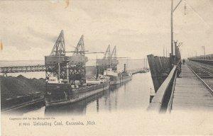ESCANABA , Michigan, 1901-07 ; Unloading Coal