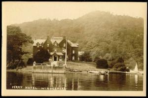 cumbria, WINDERMERE, Ferry Hotel (1920s) RPPC