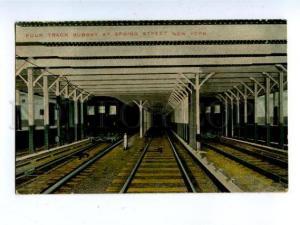 158222 Four Track SUBWAY at Spring Street NEW YORK USA Vintage