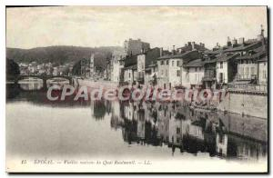 Old Postcard Epinal Old houses Quay Rualmenil