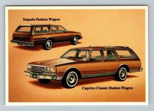 Chevrolet Impala Station Wagon & Caprice Classic, Automobile, Chrome Postcard