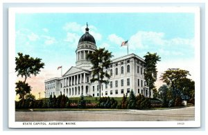 Postcard State Capitol, Augusta ME Maine from angle view G33