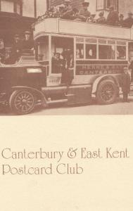Herne Bay Bus Crew Local Cantebury Club Advertising Postcard