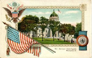 VT - Montpelier. State Capitol.     *RPO- Montpelier Junction & Barre Railroad