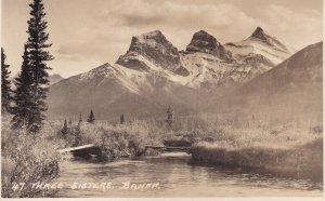 RP; BANFF, Alberta, Canada, 1920-1940s; Three Sisters Peaks