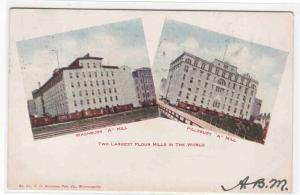 Pillsbury & Washburn Flour Mills Minneapolis Minnesota 1908 postcard