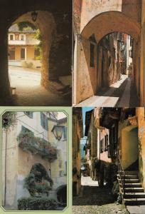 Street Pathway & Apartment 4x Orta Giulio Postcard s
