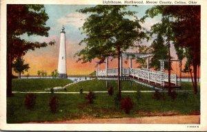 Ohio Celine Mercer County Northwood Lightouse 1958 Curteich