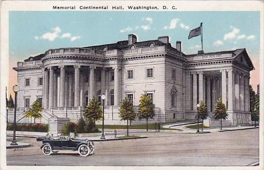 Memorial Continental Hall Washington DC