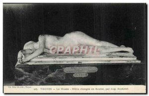 Troyes Old Postcard The museum changee in Biblis Source by Suchelet