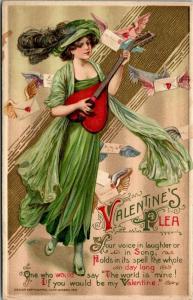 Samuel Schmucker Valentine Plea~Lovely Lady in Lime~Heart Guitar~Emboss~Winsch
