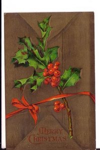 Christmas Holly, Used 1908, Lynn Massachusetts, Nova Scotia Split Ring