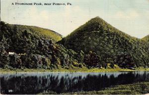 PENOVA sp RENOVO PENNSYLVANIA~A PROMINENT PEAK & RIVER POSTCARD 1911