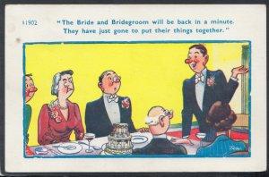 Comic Postcard - Risque / Bride / Bridegroom / Wedding / Reception HM104