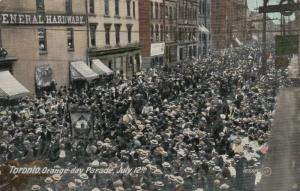 TORONTO (Ontario),  1900-10s ; Orange Day Parade, July 12th