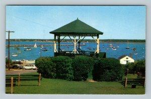 Vineyard Haven MA, Martha's Vineyard Island Harbor Chrome Massachusetts Postcard