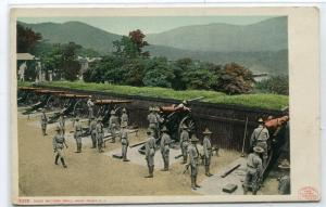 Siege Gun Battery West Point Military Academy Hudson River New York postcard
