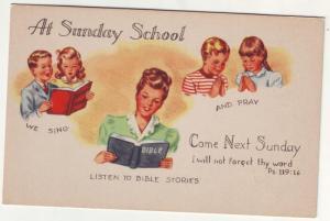 P80 JLs postcard at sunday school chrildren