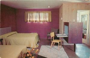 Knoxville TN~Kingston Pike~Pull-Down Desk~Terrace View Court~AAA~Postcard