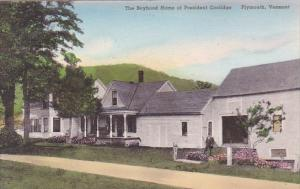 The Boyhood Home Of President Coolidge Plymouth Vermont Handcolored Albertype