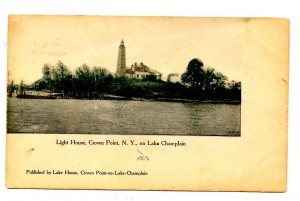 NY - Crown Point. Lighthouse, Lake Champlain Bridge