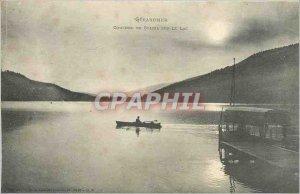 Old Postcard Gerardmer Sunset on Lake