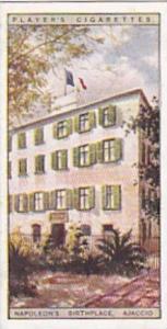 Player Vintage Cigarette Card Napoleon 1916 No 2 Napoleons Birthplace Ajaccio