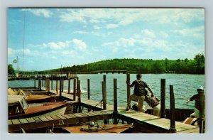 Moultonboro Neck NH- New Hampshire, Marinas, Bridge, Chrome Postcard
