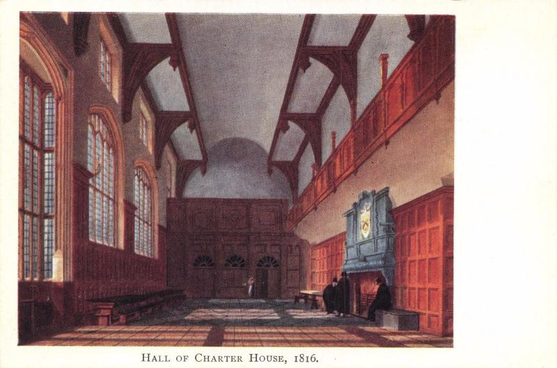 Vintage Postcard Hall of Charter House, Godalming, Surrey (1816) #G