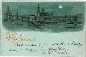 Ansichtskarten  POSTCARD: GERMANY - DRESDEN : GRUSS AUS 1899