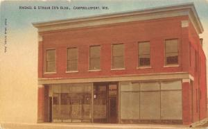 Campbellsport Wisconsin~Knickel And Straub Store~Red Brick Bldg 1910 Postcard