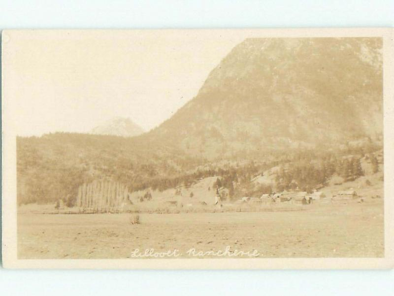 Pre-1949 rppc LILLOOET - CAYOOSH FLAT Between Kamloops & Whistler BC W1033