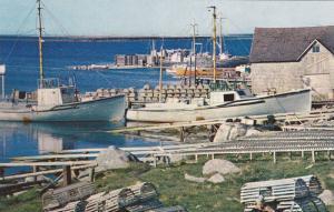 Lobster Traps, Fishing Boats Docked at Cape Sable, South Shore, Nova Scotia, ...