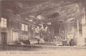 Interior, Palais De Justice, La Cour d'Assises, Rennes (Ille Et Vilaine), Fra...