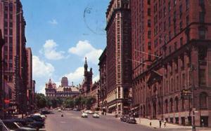 NY - Albany. State Street looking towards Capitol