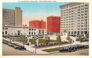 Wilmington Delaware Rodney Square Street View Antique Postcard K95824