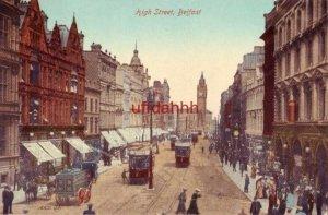 HIGH STREET BELFAST NORTHERN IRELAND trolleys & horse-drawn wagons