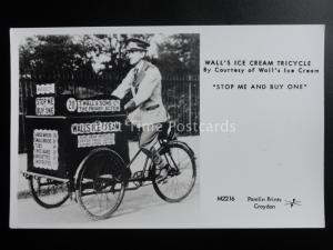WALL'S ICE CREAM TRICYCLE Stop Me & Buy One - Pamlin Print RP Postcard M2216