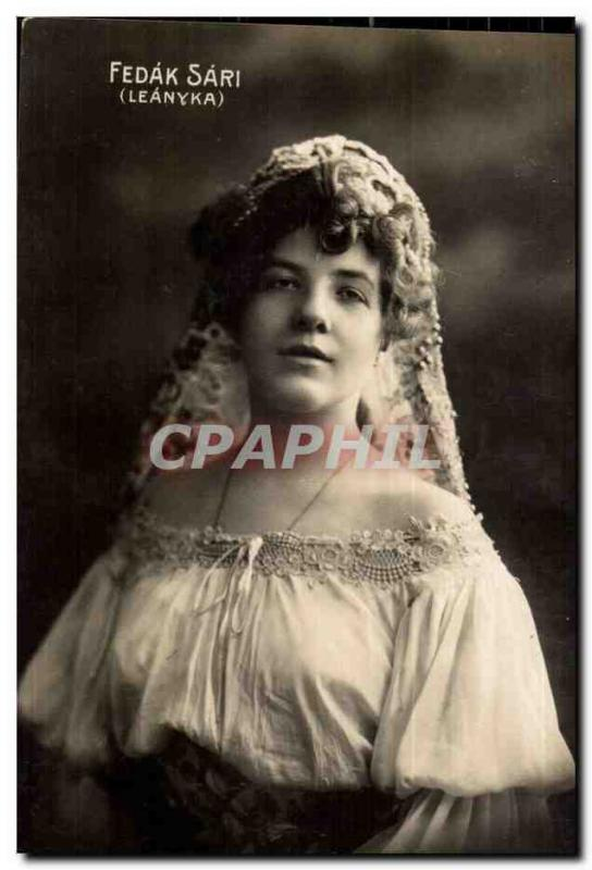 Fantaisie - Femme - Calm Woman with lace veil (carte hongroise Hungary Hongrie)
