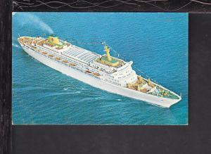 SS Oceanic,Home Lines Postcard