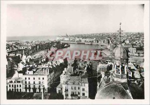Modern Postcard Dieppe Vue Generale Before the Port and the Maritime Station ...