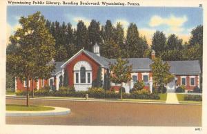 Wyomissing Pennsylvania Public Library Vintage Postcard J64378