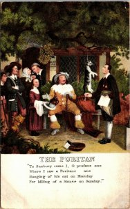 VINTAGE - THE PURITAN - POSTCARD - RARE PC - POSTED ENGLAND