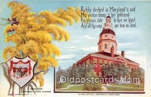 Goldenrod, State Capitol Annapolis, MD, USA Postcard Post Card Annapolis, MD,...
