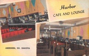 Harbor Cafe & Lounge, Aberdeen, South Dakota, Early Linen Postcard, Unused