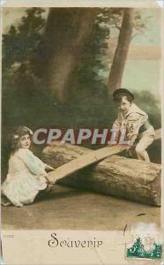 Postcard Old Memorial Children