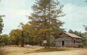 AL, Alabama  PINE TORCH CHURCH~Hardshell Baptist  LAWRENCE CO~Map Back Postcard