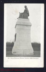 PITTSBURG LANDING TENNESSEE SHILOH BATTLEFIELD ILLINOIS MONUMENT OLD POSTCARD